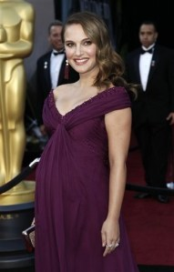 Natalie Portman on the red carpet at the Oscars, Feb 27, 2011